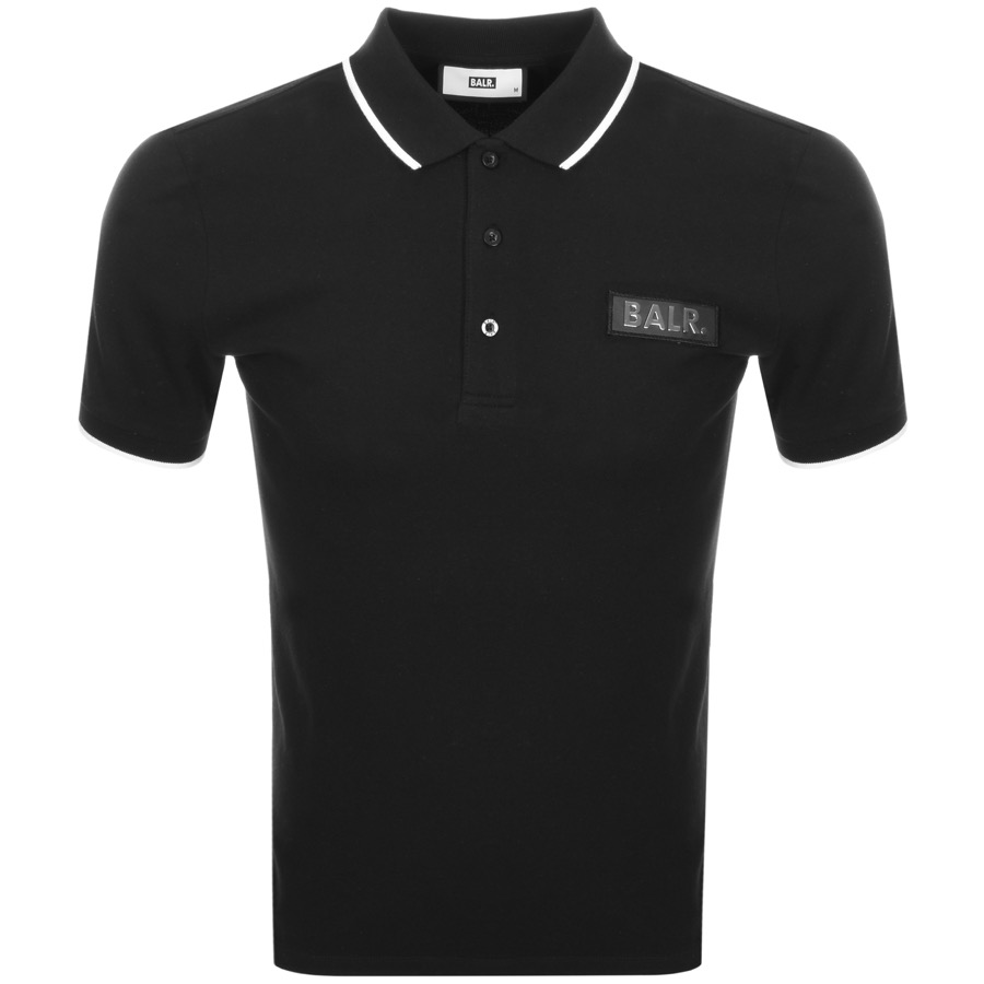 BALR Badge Logo Polo T Shirt Black