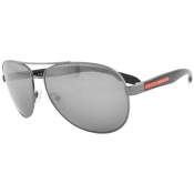 Prada Linea Rossa 53PS Aviator Sunglasses Black