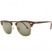 Ray Ban Clubmaster Sunglasses Brown