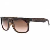 Ray Ban 4165 Justin Wayfarer Sunglasses Brown