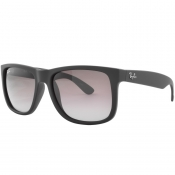 Ray Ban 4165 Justin Wayfarer Sunglasses Black