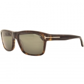 Tom Ford August Sunglasses Brown