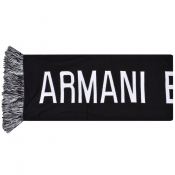 Armani Exchange Logo Scarf Black