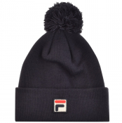Fila Vintage Wilson Turn Up Beanie Hat Navy