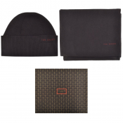 Ted Baker Bribox Hat And Scarf Gift Set Navy