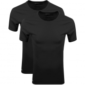 Lacoste Lounge Double Pack Crew Neck T Shirt Black