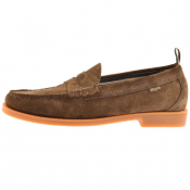 GH Bass Weejun II Larson Suede Loafers Brown