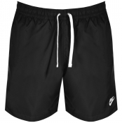 Nike Flow Logo Swim Shorts Black