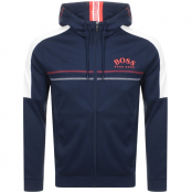 BOSS Athleisure Saggy Full Zip Hoodie Navy