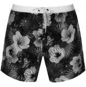 BOSS HUGO BOSS Piranha Floral Swim Shorts Black