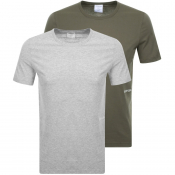 Calvin Klein 2 Pack Crew Neck T Shirts Grey