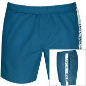 BOSS HUGO BOSS Dolphin Swim Shorts Blue