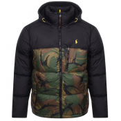 Ralph Lauren Jackson Padded Down Camo Jacket Black