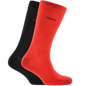 HUGO Double Pack Logo Socks Red
