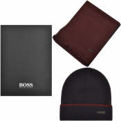 BOSS HUGO BOSS Gabriel Hat And Scarf Gift Set Navy