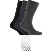 BOSS HUGO BOSS Three Pack Socks Gift Set Navy
