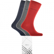 BOSS HUGO BOSS Three Pack Socks Gift Set Red