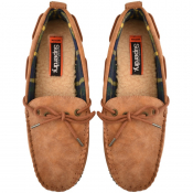 Superdry Clinton Moccasin Slippers Tan