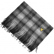 Lyle And Scott Tartan Woven Scarf Grey