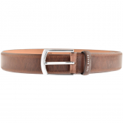 Ted Baker Class Broguing Leather Belt Brown