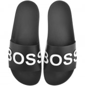 BOSS HUGO BOSS  Bay Sliders Black