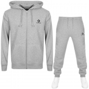 Converse Star Chevron Full Zip Tracksuit Grey