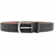 Ted Baker Class Broguing Leather Belt Black