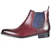 Ted Baker Travic Leather Boots Burgundy