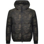 True Religion Down Camo Jacket Black