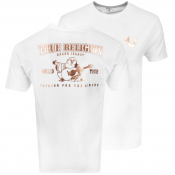 True Religion Metallic Buddha T Shirt White