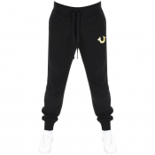 True Religion Horseshoe Logo Jogging Bottoms Black