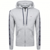Tommy Hilfiger Lounge Icon Logo Zip Hoodie Grey