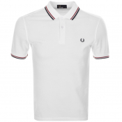Fred Perry Twin Tipped Polo T Shirt White