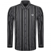 Fred Perry Long Sleeved Stripe Shirt Black