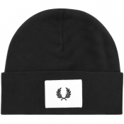 Fred Perry Acid Brights Logo Beanie Hat Black