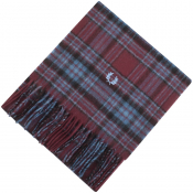 Fred Perry Black Winter Tartan Scarf Burgundy