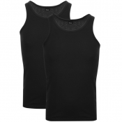 BOSS HUGO BOSS Double Pack Vest T Shirts Black