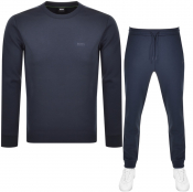 BOSS Athleisure Crew Neck Tracksuit Navy