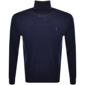 Ralph Lauren Roll Neck Knit Jumper Navy
