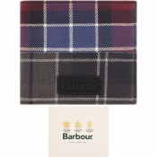 Barbour Mixed Tartan Logo Wallet Purple