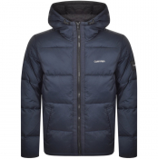 Calvin Klein Jeans Hooded Down Jacket Navy