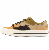 Converse One Star Suede Camouflage Trainers Black