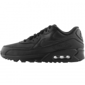 Nike Air Max 90 Leather Trainers Black