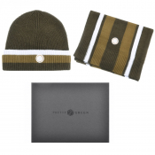 Pretty Green Beanie Hat And Scarf Gift Set Green