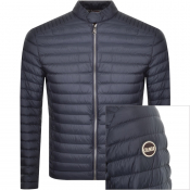 Colmar Biker Padded Down Jacket Navy