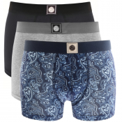 Pretty Green 3 Pack Boxer Shorts Gift Set Navy