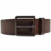 HUGO Gionio Leather Belt Brown