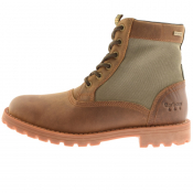 Barbour Cheviot Derby Boots Brown
