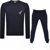 Money Sig Ape Crew Neck Tracksuit Navy
