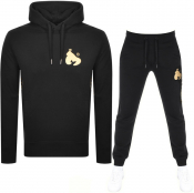 Money Gold Tape Sig Ape Hooded Tracksuit Black